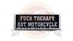Нашивка Не надо терапии, давай мотоцикл НАКЛЕИВАЕТСЯ УТЮГОМ