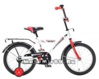 Велосипед 14'' NOVATRACK ASTRA (1ск,защита А-тип,крылья и баг. хром) 133903 белый