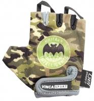 Перчатки вело детские, Military, гелевые вставки,цвет зеленый, размер 6XS