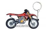 Брелок Модель мототехники (КС001) ПВХ, кроссовый мотоцикл типа ХОНДА красный с белым