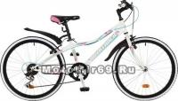 Велосипед 24 NOVATRACK ALICE (рама ст.12, 6 ск,TY21/RS35/TZ21, V-brake) 117106 белый