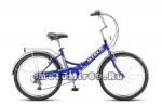 Велосипед 24'' STELS PILOT-750 (складной,6ск,рама сталь 16,зад.нож.торм,ал обода,баг,зв,насос)
