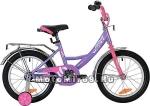 Велосипед 16 NOVATRACK VECTOR (1ск,рама сталь,тормоз нож,крыл.и баг.хром) 133919, лиловый