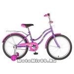 Велосипед 20 NOVATRACK TETRIS (торм.нож.,крылья цвет., багажник хром) 126763 фиолетовый,сиреневый
