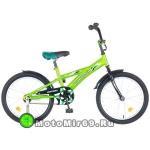 Велосипед 18'' NOVATRACK DELFI.16 (1ск,торм.нож.,защита А-тип, корот.крыл) салатов./черн