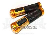 Ручки руля цветные 1847 металл (типа Jambo) стразики, золотые, синие, красные