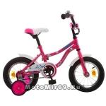 Велосипед 12 NOVATRACK NEPTUN (защита А-тип, короткие крылья, нет багажника) розовый