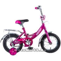 Велосипед 12 NOVATRACK VECTOR (торм.ножной, крылья и багажник хром) 125964, фиолетовый