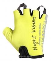 Перчатки вело детские, Night Vision kids, гелевые вставки,цвет неоновый, размер 7XS