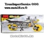 Конструктор детский мотоцикл с желтыми колесами (лего) (0498) 270 деталей