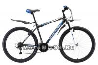 Велосипед 27,5 BLACK ONE ONIX (рама 20) черно сине серебристый