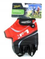 Перчатки вело, цвет черный с красным, размер XL