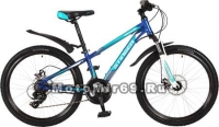 Велосипед 24 STINGER ARAGON (18ск,МТВ,14 рама сталь,TY500/TY300/TS38) синий
