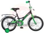 Велосипед 18 NOVATRACK STRIKE (ножной тормоз, цветные крылья, багажник черный) 126757 черно-зеленый