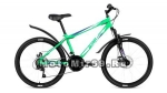 Велосипед 24 FORWARD ALTAIR MTB HT 3.0 Disc (18ск, рама 14сталь,пл.крыл., вилка ход 30мм.) св. зел