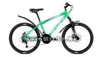 Велосипед 24 FORWARD ALTAIR MTB HT 3.0 Disc (18ск, рама 14сталь,пл.крыл., вилка ход 30мм.) св. зел