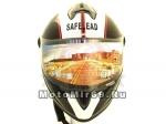 Шлем интеграл Safelead LX-122 черный Q66, размер M