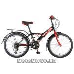 Велосипед 20'' NOVATRACK RACER (12ск,МТВ,рама сталь,вилка жест,торм.V-Brake) 117081, черный