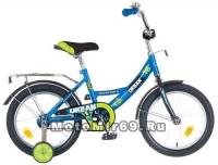 Велосипед 14 NOVATRACK URBAN (1ск,рама сталь,торм.нож,цвет.крылья, баг.хром) 107112синий
