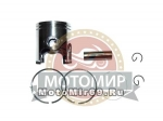 Поршень 47,00 мм 2 такт.скутер Yamaha JOG80 /Stels/1E40QMB палец 12 мм (кольца, палец, стопора)