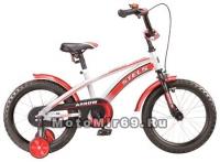 Велосипед 14 STELS ARROW (1ск.,рама 8.5, зад.ножн. торм.,перед.руч.торм.,звонок,доп.колеса)