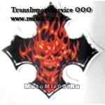 Наклейка Крест с огненным черепом (байкер стиль) (GPA 015) 3410