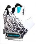 Перчатки вело подростковые Wings, гелевые вставки, цвет белый, размер (М)