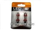 Лампа светодиодная (3 диода)LEDТ11x 36 Цоколь: C5W SV8,5 подсв,,салона,багажника красная