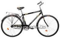 Велосипед 28 FORWARD DORTMUND 1.0 (городской, рама сталь, торм.ножной, багажник, насос),