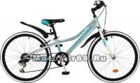 Велосипед 24 NOVATRACK ALICE (рама ст.12, 6 ск,TY21/RS35/TZ21, V-brake) 117105 голубой