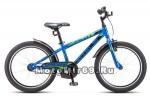 Велосипед 20 STELS PILOT-200 Gent (1ск,рама ал.11,задн.ножн.торм,перд.торм.V-br) синий