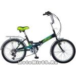 Велосипед 20'' FS-30 NOVATRACK (складной, 6ск,торм.2 руч.,Shimano) черный