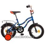 Велосипед 12 NOVATRACK TETRIS (1-ск, тормоз нож.,крылья цвет,багажник хром) 098559 синий