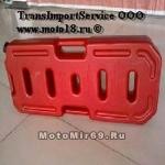 Канистра-бензобак для ATV (пластик) 20 литров (плоская, специально для переднего багажника), ИМПОРТ