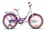 Велосипед 20 STELS PILOT-210 Lady (1ск,рама сталь 12,задн.ножн.торм,перд.торм.V-br) пурпур/белый