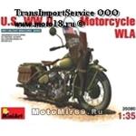 Модель для конструирования американского мотоцикл WLA (108 деталей, 1:35)(35080)