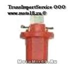 Лампа светодиодная (1диод) LED цоколь Т5-01cap патрон иномарка красная