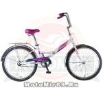 Велосипед 24'' FS-24 NOVATRACK (складной,1ск,торм.1руч,ножной,багаж,звонок) 137237 белый