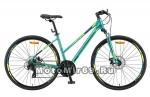 Велосипед 28 STELS Cross-130 MD Lady (рама 15,5,18,20,торм.мех) арт 010 зеленый