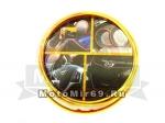 Лента декоративная на клейкой основе для украшения салона или кузова М002Н, желтая