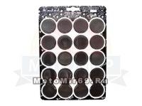 Наклейки защитные (набор на бак) PD100CB (черные круги) 3D(объмные), стиль спорт, Тайвань