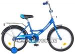 Велосипед 18 NOVATRACK VECTOR (1ск,рама сталь,торм.ножной,крылья цвет.,баг.хром) 126747 синий
