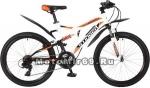Велосипед 24 STINGER HIGHLANDER 200 V (2х.подв.,18ск,рама 14сталь,торм.V-br) белый 117386