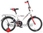 Велосипед 16'' NOVATRACK ASTRA (1ск,защита А-тип,крылья и баг.хром) 98581 белый
