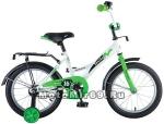 Велосипед 20 NOVATRACK STRIKE (ножной тормоз, цветные крылья, багажник черный) 126770 бело-зеленый