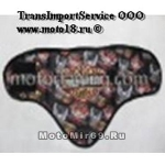 Платок мото/скутер ГРАФИКА (треугольный с округлыми краям, сзади на липучке, защита дыхания DA 013