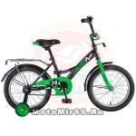 Велосипед 12 NOVATRACK STRIKE (ножной тормоз, цветные крылья, багажник черный) 125957 черно-зеленый