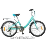 Велосипед 20'' NOVATRACK ANCONA (6-скор, TY21/RS35/SG-6SI, V-brake) 124564, зеленый