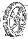 Обод 17 колеса задний Шторм 1,85-17 под диск 4 отв.