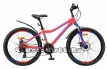 Велосипед 24 STELS Navigator-410 MD 21-sp (18ск,рама 12,13ам.вилка,дв.ALоб,мех.диск.торм)неон-кра